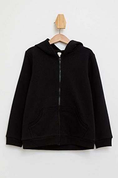 DeFacto Kapüşonlu Sweatshirt Siyah